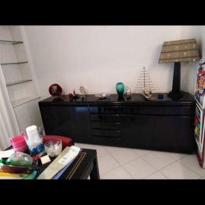Μπουφές μαύρο ξύλο, 2 διπλά ντουλάπια και 4 συρτάρια