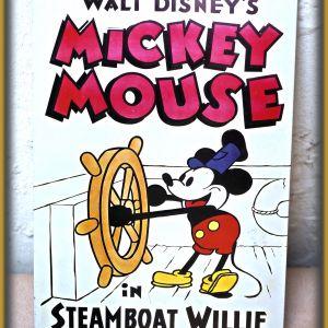 Διακοσμητική μεταλλική πλακέτα Mickie Mouse, Disney
