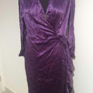 Vintage 1945 μεταξωτό σατέν φόρεμα