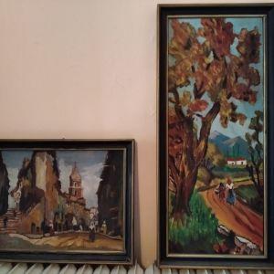 Δυο πίνακες ζωγραφικής μαζί 24 ευρώ