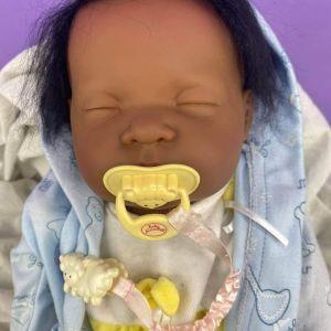 Berenguer-πολύ μεγάλο έγχρωμο μωράκι κούκλα, σαν αληθινό