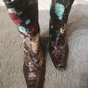 Vintage γυναικειες δερμάτινες COWBOY μπότες