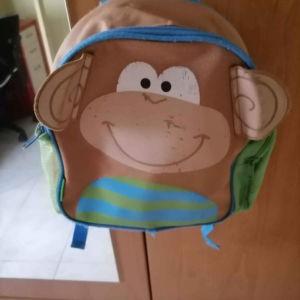 τσάντα νηπιαγωγειου μαιμουδακι