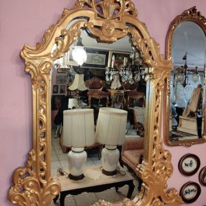 Καθρέπτης χρυσός εντυπωσιακός 1.40x1.20