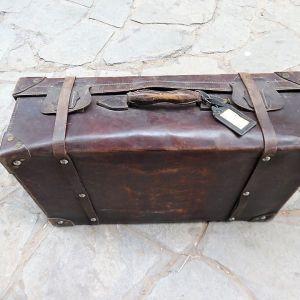 Παλιά μεγάλη βαλίτσα δερμάτινη
