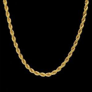 FDLK ατσαλινη αλυσιδα λαιμου σε χρυσαφη χρωμα
