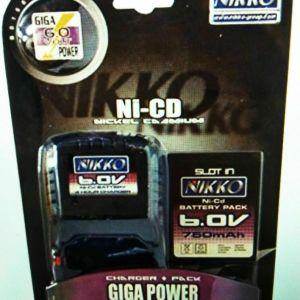 μπαταρια με φορτιστη NIKKO 6.0V 750MAH BATTERY PACK AND CHARGER B01562
