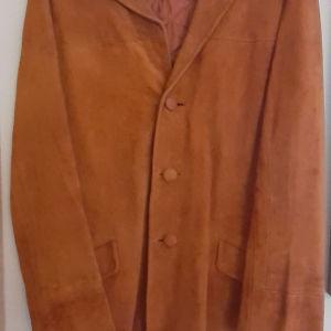 Καστόρινο σακάκι, γνήσιο δέρμα.