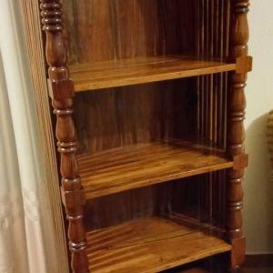 Ραφιερα /Βιβλιοθηκη  Μασιφ Ξυλο Μαονι με δυο συρταρια