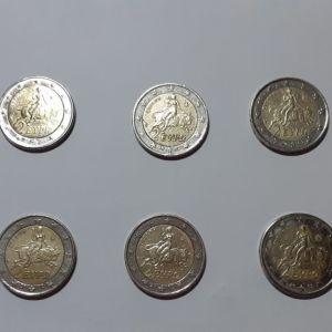 10 ΤΕΜΑΧΙΑ 2€ ΝΟΜΙΣΜΑΤΑ ΤΟΥ ΕΥΡΩ ΜΕ ΤΗΝ ΑΡΠΑΓΗ ΤΗΣ ΕΥΡΩΠΗΣ (S)
