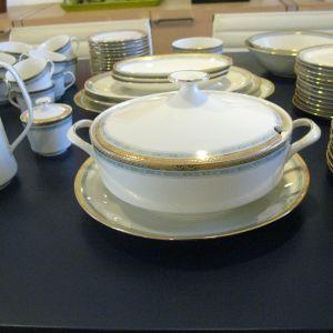Kronester Σερβίτσιο Φαγητού & Καφέ 132 τεμ. με Χρυσό Μοτίφ