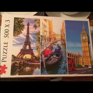 3 παζλ-puzzle των 500τεμαχιων