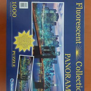 Clementoni Flourescent Collection 1000 Piece Panorama Jigsaw Puzzle: Brooklyn Bridge, New York