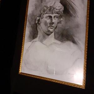 Εργο Τεχνης με μολυβι αρχαιοελληνικο πορτραιτο