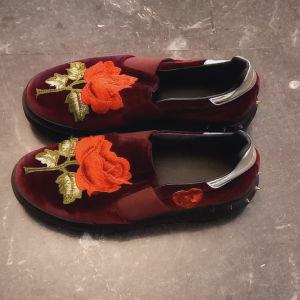 βελούδινα Μπορντό παπούτσια
