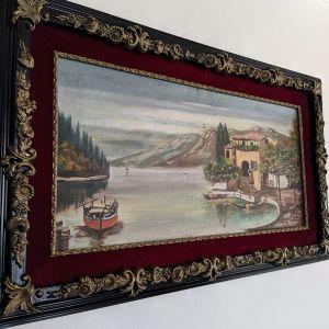 Ξύλινο κάδρο με ζωγραφική.