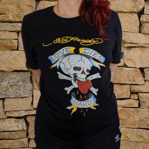 T-shirt Ed Hardy με νεκροκεφαλή