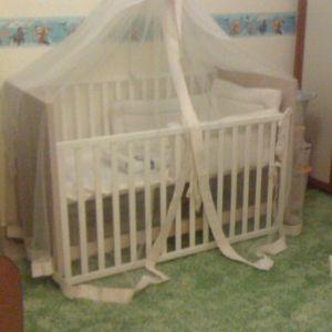 Βρεφικό παιδικό κρεβάτι κούνια