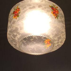 2 x Vintage φωτιστικά κρυσταλλιζε γυαλί του 70'