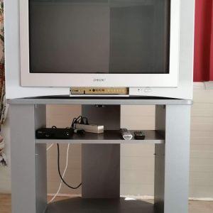"""Τηλεόραση SONY με αποκωδικοποιητή+έπιπλο σε ΑΡΙΣΤΗ ΚΑΤΑΣΤΑΣΗ πλήρως λειτουργική Trinitron 32"""" KV-32FQ80E"""