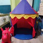 Παιδική πτυσσόμενη σκηνή και φουσκωτό ζωάκι