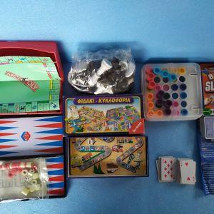 επιτραπεζια παιγνιδια παιδιων,ενηλικων,τεμαχια=7,τιμη για ολα μαζι=10€