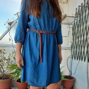 Μακρυμανικο τζιν φόρεμα