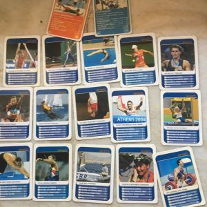 Κάρτες (υπέρ ατού) sporty .. 18 τμχ  .αριστες