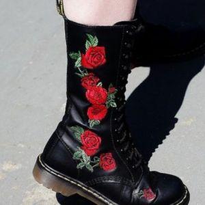 Μπότες Μπότες δερμάτινες Dr Martines FLORAL BOOTS & SHOES