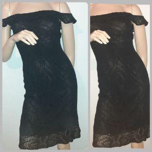 πλεκτό μαύρο φορεμα