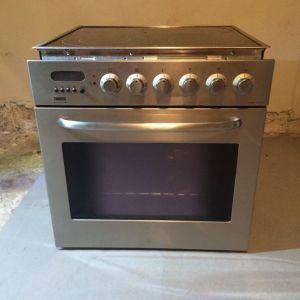 Φούρνος και κεραμικές εστίες ZANUSSI και Morris Απορροφητήρας Καμινάδα 90cm Inox