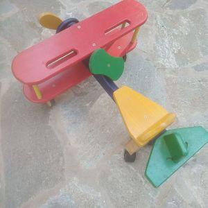 ξύλινο όχημα - αεροπλάνο