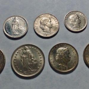 ΕΛΒΕΤΙΑ 9 Νομίσματα - πολύ καλές καταστάσεις!