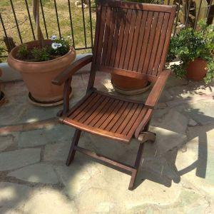 Πολυθρόνα ξύλινη πτυσσόμενη