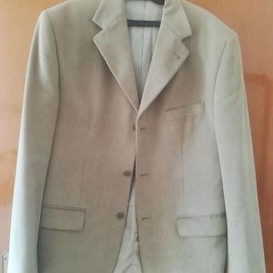 Ανδρικό κουστούμι Achille Saridis - Μπεζ σακάκι και παντελόνι No Large