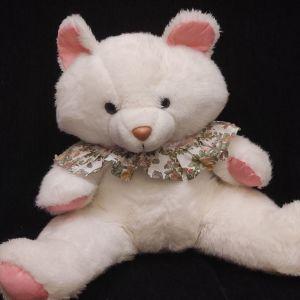 Πωλείται Λευκή Λούτρινη Αρκούδα   80's