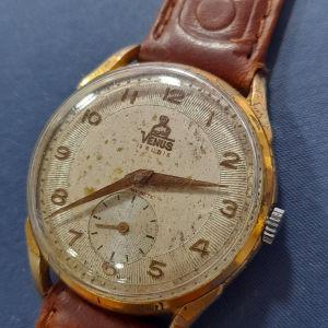παλιό ανδρικό κουρδιστό ρολόι Venus Jumbo