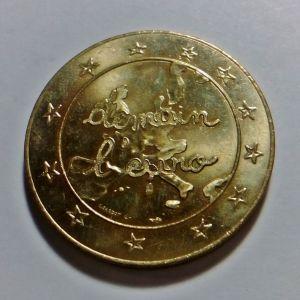 ΓΑΛΛΙΑ Επίχρυσο Αναμνηστικό Νόμισμα για το ΕΥΡΩ