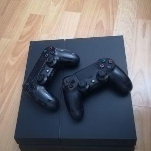 Πώληση PLAYSTATION 4 με 2 dualshock και 9 video game