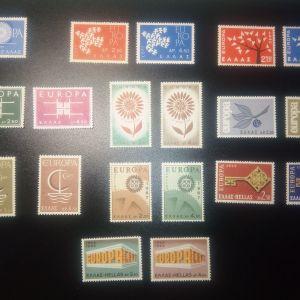 1960-1969 EUROPA 10 ΧΡΟΝΙΑ ΣΥΝΕΧΟΜΕΝΑ LUX MNH ΑΣΦΡΑΓΙΣΤΑ