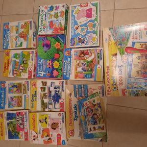 12 παιχνίδια εκπαιδευτικά ηλικίας 2-4, δώρο 2 παραμύθια με παζλ