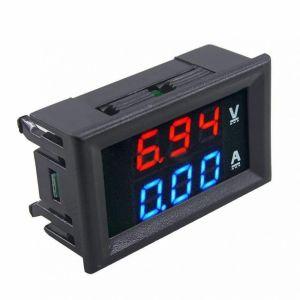 Βολτόμετρο και αμπερόμετρο Digitalηφιακό βολτόμετρο πίνακα LED τιμή DC 0-100V 0-10A