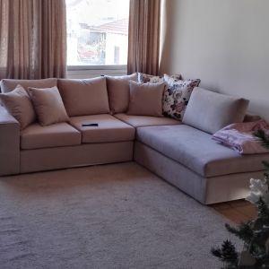 Πωλείται γωνιακός καναπές (μόλις 3 μήνες μεταχειρισμένος)!!