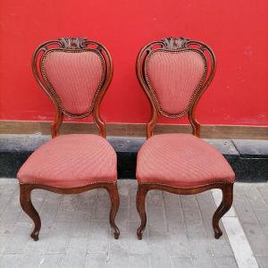 Ξύλινες καρέκλες με σκάλισμα σε άριστη κατάσταση
