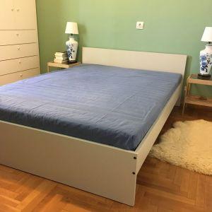 Κρεβάτι IKEA διπλό 1.40x2.00 GURSKEN με τάβλες και στρώμα HAFSLO