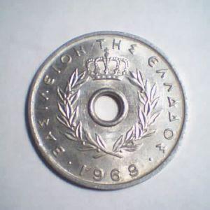 10 λεπτά 1969 - 10 cents 1969 - Greece