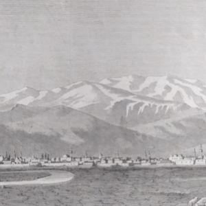 1854 Λάρισα Όλυμπος ξυλογραφία διαστάσεις 25x14cm