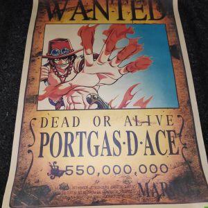 Συλλεκτικη Αφισα One Piece PortGas D'Ace