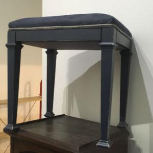 ξύλινο σκαμνί μασιφ πεύκο λακαρισμένο μπλε