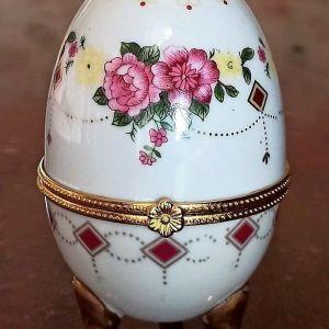 διακοσμητικό αυγό  vintage πορσελάνης limoges